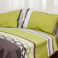 Wholesale Cheap gradient stripes trade cotton spring and pillow cover cotton pillowcases Double single three piece