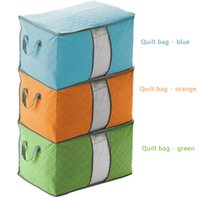 Wholesale 3 colors availablle Foldable Wardrobe Storage Bag Clothes Blanket Pillow Quilt Closet Sweater Box Pouch Organize
