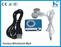 achat en gros de mini-mp3 acheter-Mini Clip MP3 Player Bargain Buys 9-Color Sports Un support MP3 portable Prise carte TF / SD avec casque
