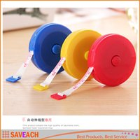 Wholesale Candy color M mini portable tape measure keychain Sewing Tailor Retractable Ruler Tape