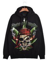 american apparel hoodie - Mens Pirate Skeleton Designs American Apparel Black Fleece Hoodies Pulloever