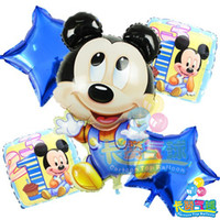 Wholesale HOT globos birthday balloons minnie mickey mouse foil balloon air balloons helium baloon party decoration baloes balao