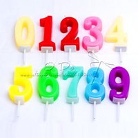 april waxing - Number Wax Candle Wedding Decoration Party Supplies Birthday Candle Cake Accessories Random Color