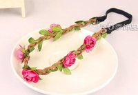 Wholesale 100pcs flower headband Bride Bohemian Flower Headband Festival Wedding Floral Garland Hair Band Headwear Hair Accessories for Women