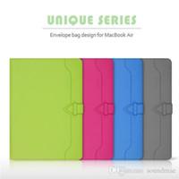 Wholesale 2016 Cartinoe Unique Series Luxury Envelope bag Laptop thin color Case PU Microfiber cover for Macbook Air inch