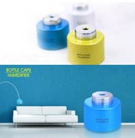 Wholesale Fashion Hot USB Portable ABS Water Bottle Cap Mini Humidifier DC V Office Air Diffuser Aroma Mist Maker Absorbent Filter Sticks