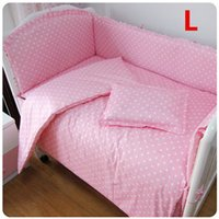 Wholesale Crib Bed Clothes Cot Set In Baby Bed Colors Many Sizes For Option Comfortable Cotton Made Cartoon Bumper Set For Crib