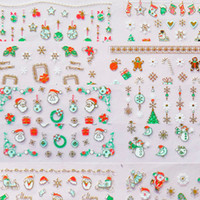 Wholesale Christmas D Nail Art Sticker Decoration Pack Different Style Nail Art Stickers