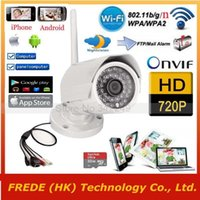 Wholesale 1280 P WiFi Wireless IP Surveillance camera P2P Outdoor Waterproof Gargen Security network G by iphone android PC PAD A5