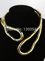 al por mayor punk estilo de bricolaje-Collar flexible de la serpiente del estilo DIY de la Al por mayor-Navidad Collar flexible de la serpiente del twisty de la serpiente del collar 6m m flexible al por mayor FEAL ZN10 de la serpiente