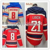 alex grey shirts - Factory Outlet hot Alex Alexander Ovechkin Hoodies Jersey Men s Cream Red Hockey Shirt Stitched Brooks Laich