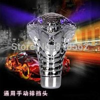Wholesale Manual Transmission Silver snake gear stick lever Shift Knob for Sport Racing Car auto Snake Shifter for LADA RIO Solaris Duster