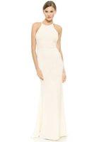 Wholesale 2016 wedding dress jersey halter neckline zipper back full length custom made bride gown