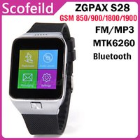 Wholesale ZGPAX S28 Inch Watch Phone Pedometer Sleep Monitor Single SIM Card Quad Band Smart Bluetooh Sync Anti lost