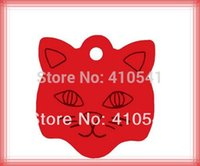 aluminum tags - pet tag mm Cat Face Shaped Dog name Tags Aluminum Alloy Pet Products Dog ID Tags puppy dog cat id tags