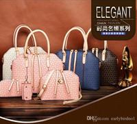bamboo composite - 4pcs set New Fashion Women s Handbag Bag Purses PU Leather Shoulder Bags Girls Cheap Four piece Messenger Totes bags Composite Bags