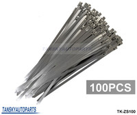 Wholesale TANSKY x Top Quality Stainless Steel Metal Cable Ties Tie Zip mm x mm Wrap Exhaust TK ZS100