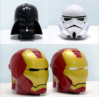 Wholesale 2015 christmas gift star wars movie Iron Man Helmet Shaped Coffee mugs D plastic tea cup water cup snack container