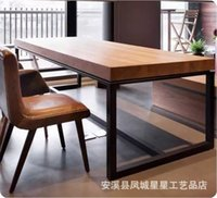 Wholesale American country to do the old retro wood wrought iron rectangular book hotel restaurant bar office furniture