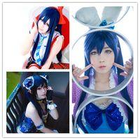 Wholesale 2015 Hot New Arrival cm Dark Blue Love Live School Idol Project Umi Sonoda Cosplay Wig