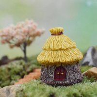 Wholesale New Promotion Resin Dome Cottages Thatched House Fairy Garden Miniature Craft Micro Landscape Decor Ornament DIY Decoration