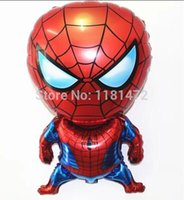 Wholesale cm spiderman shape cartoon foil balloons spiderman party supplies birthday party decoration spider man free ship