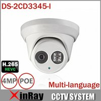 Wholesale 2015Newest MP CCTV Camera HIK DS CD3345 I With H IR Cut Array Night Vision M Multilanguage Dome Camera