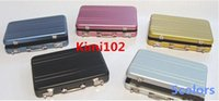 Wholesale 2015 Business ID Credit Card Wallet Holder Mini Suitcase Shape Card Case Aluminum Metal Case Box YKB5001