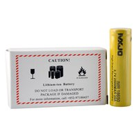 Cheap Majo IMR 18650 Battery CLONE 35A High Drain 2500mah Flat Top Rechargeable Batteries Cell with Yellow Color Fit 510 Thread Box Mod