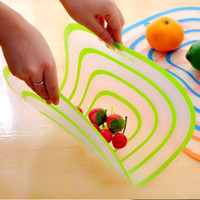 Wholesale plastic transparent cutting board kitchen household sheet of transparent cartoon medium large optional chopping board