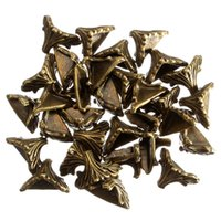 Wholesale 30PCs Dorabeads Box Corner Foot Protector Desk Box Edge Antique Bronze Pattern Carved mm x mm
