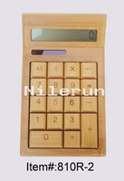 Wholesale solar power and coin batteries bamboo calculator digit calculator