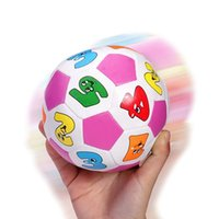 baby crawl ball - Baby Hand Catching Ball Cartoon Digital Rattles Colorful Soft Football For Baby Grasping Crawl Early Educational Toy