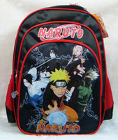 Black naruto - Cartoon Naruto Backpack Uzumaki Naruto School Bags For Children gifts