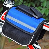 Wholesale Bicycle Saddle Front Tube Outdoor Cycling Bag Mountain Road Bike Saddle Bag Phone Bicycle Accessories Black Blue Red