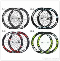 Wholesale 2015 FFWD carbon wheels white and sky blue red green decals carbon clincher bike wheels mm C carbon wheels with Novatec Hubs