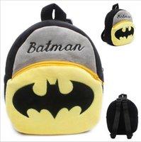Wholesale 100pcs New arrival cartoon Batman bags kids backpack children school bags for kindergarten girl baby HL
