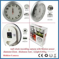 audio motion sensor - SPY Security Covert Camera PIR Motion Sensor Support Audio Recorde Long Time Recording Wall clock