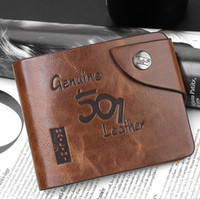Wholesale Factory Price Spring New Vintage Men s Wallet Fine Bifold Brown Leather Money Purse Wallet For Men D826