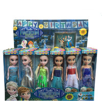 Wholesale 2015 Frozen elsa fever dolls children princess doll mini toys Lovely anna birthday party dolls gilf for kid boneca frozen elsa dolls