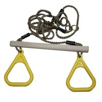 Wholesale Yellow Flying Rings Swing for Child Adult Pull Up Chinning Muscle Sports
