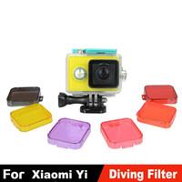 Wholesale Xiaomi Yi Accessories Dive Filter Kingma Yellow Red Purple Grey Orange Pink Underwater Diving Lens Filtro for Xiaomi xiaoyi