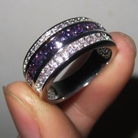 China-Miao amethyst wedding bands - Men s Purple Amethyst Gemstone CZ KT Gold Filled Band Ring Size