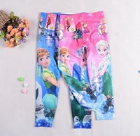 best colorful tights - best selling Frozen Fever Fashion Girl Elastic Leggings for Girls Cartoon Children Kids Clothes Cotton Thin Colorful Tights Girl Pink Blue