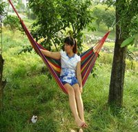 Cheap Outdoor 280*80cm Canvas Hammock Garden Swing Bed Relaxing Swing Sack 40PCS lot 1027#27
