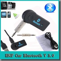 Wholesale New arrival hands free Wireless Audio Car Bluetooth EDUP V Transmitter Stereo Music Receiver A2DP Multimedia Receiver Black D5234A