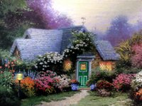 One Panel weathervane - Beautiful Landscape Canvas oil painting Weathervane Hutch Thomas Kinkade hand painted High quality