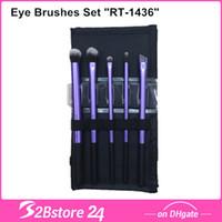 Wholesale 5Pcs Eye Brushes Set Real Techniques Starter Set Kit quot RT quot Base Shadow Brush Deluxe Crease Brush Fine Liner Brush Accent Brush Bro