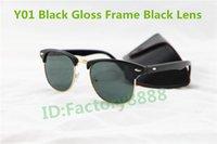 achat en gros de lunettes de soleil lentilles de couleur-Objectifs classique de haute qualité Marque Desinger Femmes Noir Lunettes de vue Lunettes de soleil en verre VINTAGE hommes avec des boîtes 5 couleurs Pour vous sélectionnez