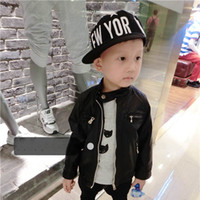 kids leather jackets - Kids Leather Jackets Child Clothes Kids Clothing New Childrens Autumn Coat Boys Jacket Children Outwear Boy Pu Leather Jacket C13300